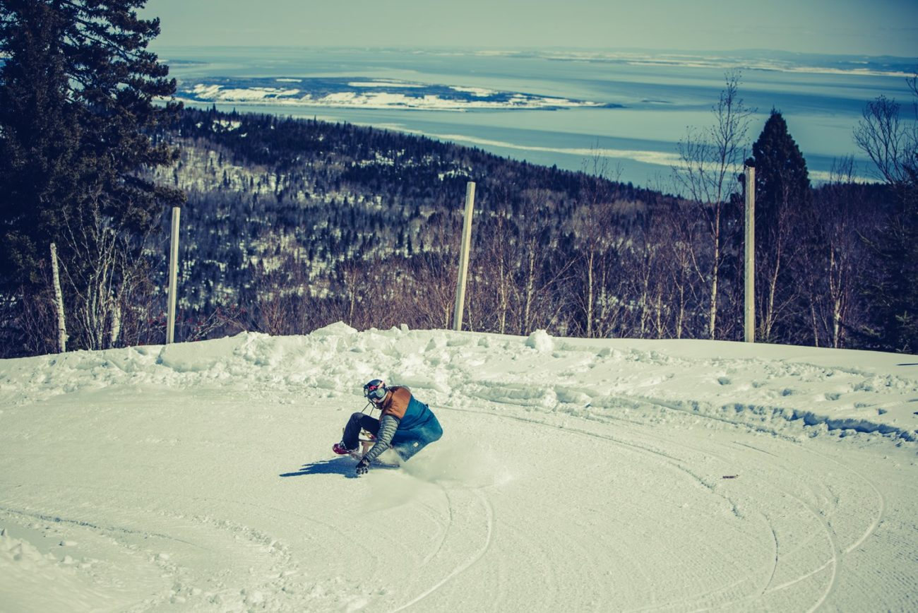 SLEDDING AT LE MASSIF DE CHARLEVOIX
